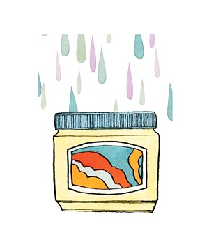 Illustration of a pot of petroleum jelly