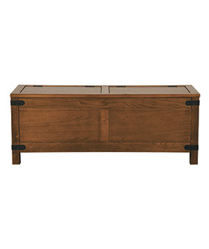 Arhaus Arts and Crafts-style Bentley wood coffee table