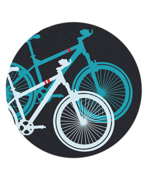 Illustration of bicycles