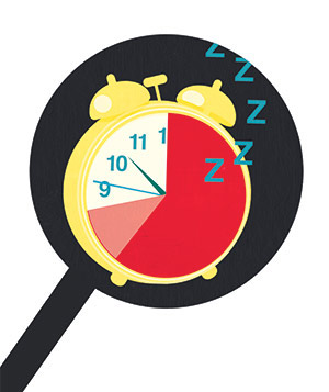 Illustration of an alarm clock