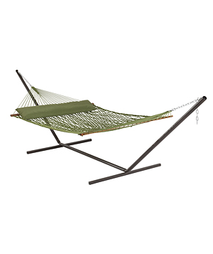 Garden Treasures Green Polyester Rope Hammock With Pillow
