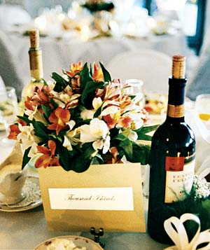 Table at a reception