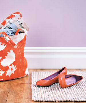 Shoes and a tote bag