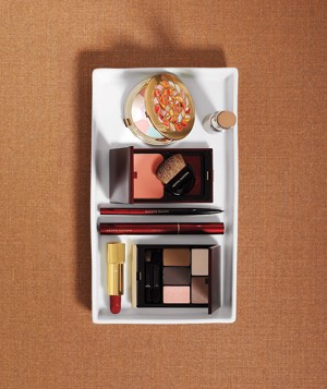 Variety of makeup items