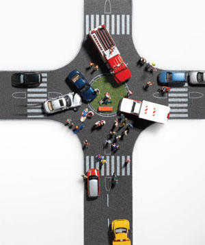 Accident in an intersection