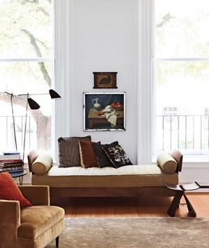 Couch with a painting