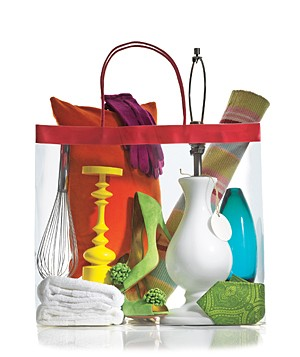 Shopping bag filled with items