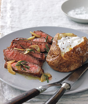 Strip Steak With Rosemary and Garlic