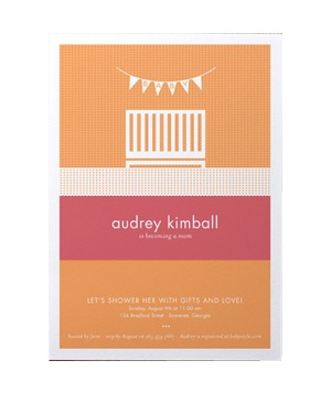 Lullaby baby shower card