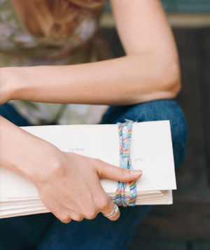 Woman holding letters