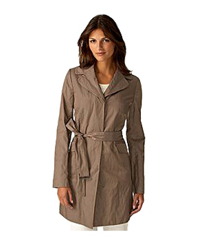 Ann Taylor's nylon-and-cotton blend trench coat