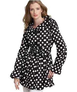 Betsey Johnson's polka-dotted trench coat