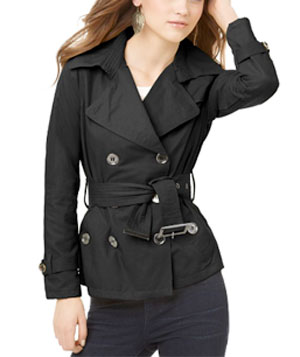 Long Sleeve Lightweight Belted Trench by Jou Jou