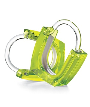 Neon + Squared acrylic curtain rings