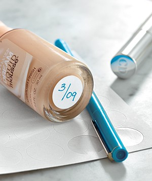 Makeup marked with an expiration date