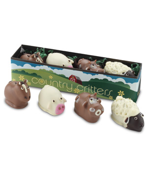 Moonstruck Chocolatier Country Critter Truffle Collection