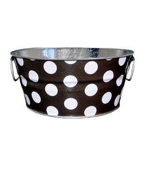 The Macbeth Collection Chubby Tubby in brown polka dot