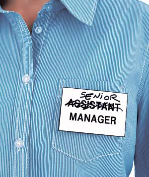 Senior (assistant) manager badge