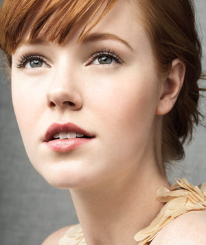Model with clean make-up