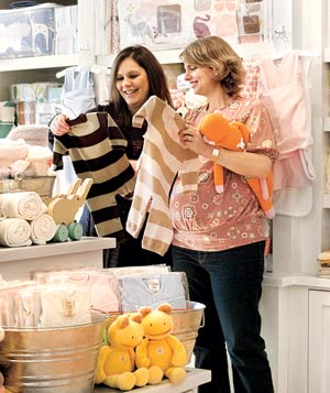 Two women shopping at Giggle in Greenvale New York