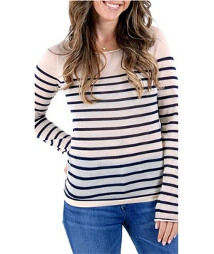 Lutz and Patmos Mariner Boatneck striped sweater