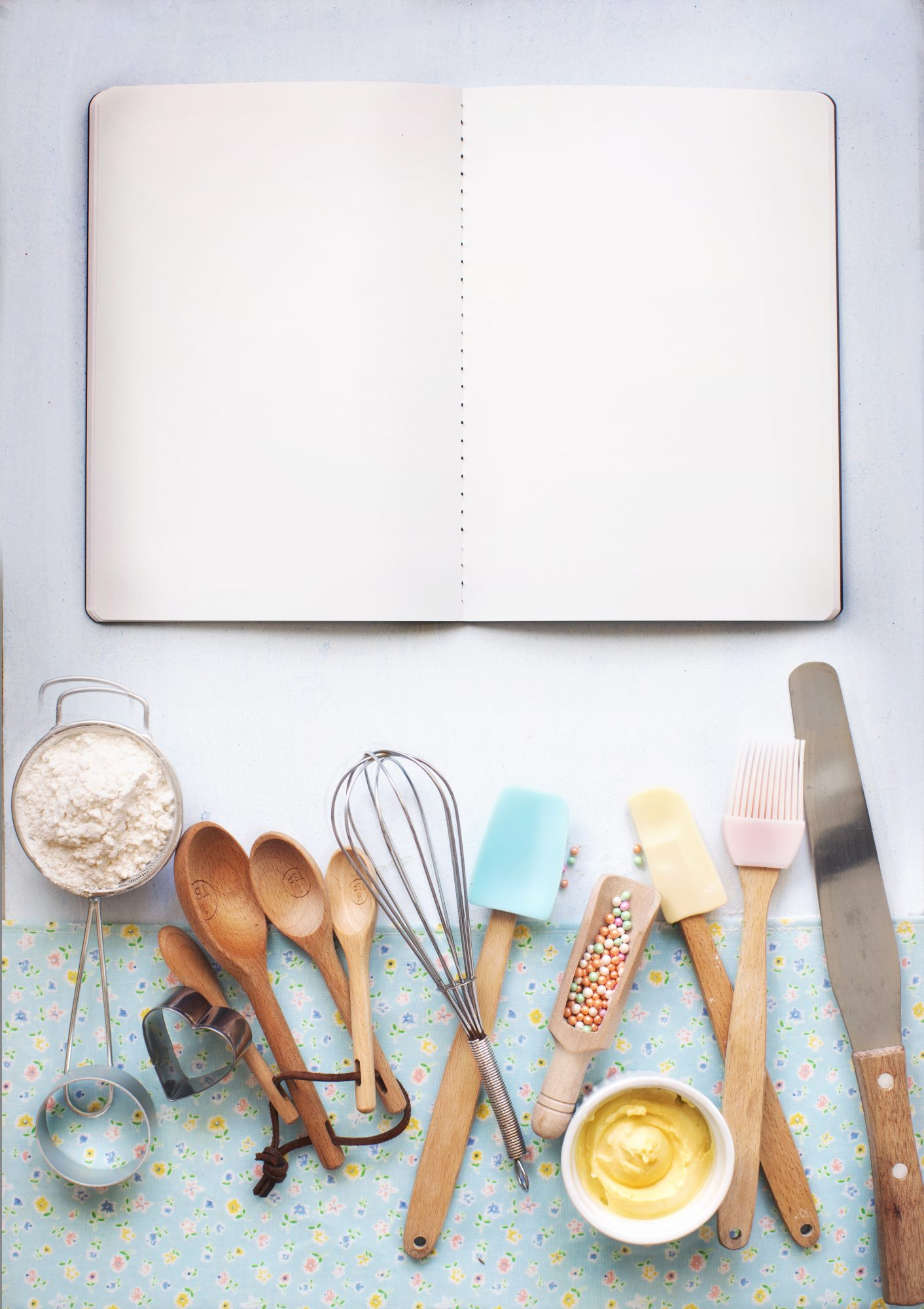 Cookbook and Utensils