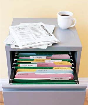 File cabinet and folders