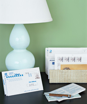 A pile of envelopes and bills