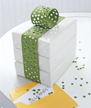 Gifts decorated with construction paper