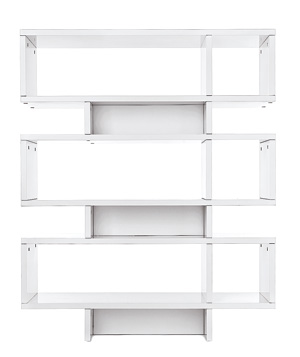 Stacked bookshelf by West Elm
