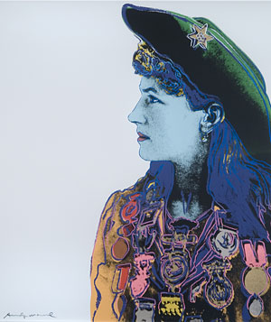 "Andy Warhol ""Annie Oakley"" Print from 'Cowboys and Indians' series"