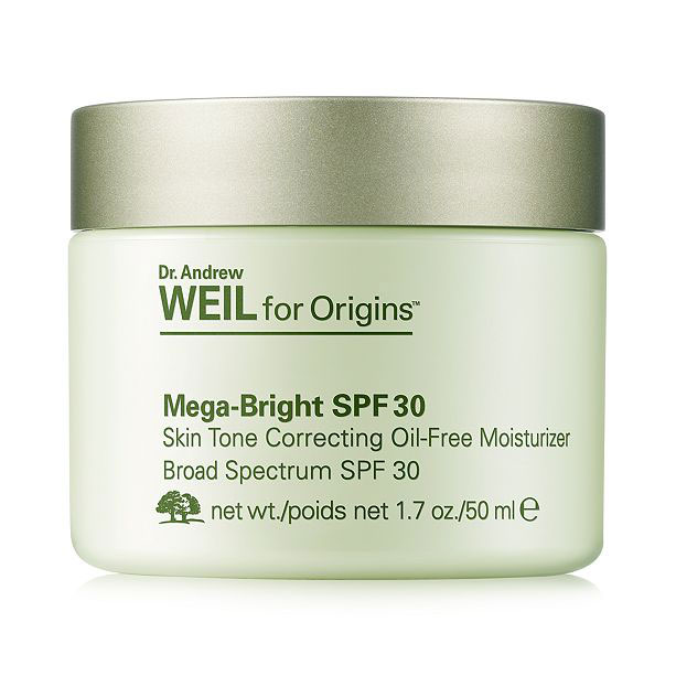 For Oily Skin: Dr. Andrew Weil for Origins Mega-Bright SPF 30 Oil-Free Moisturizer
