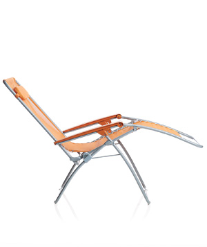 Orange RT Recliner folding chair