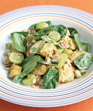 Curried Chicken Salad With Grapes