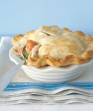 With store-bought starters, including frozen vegetables, one-serving potpies need only 15 minutes of hands-on time.