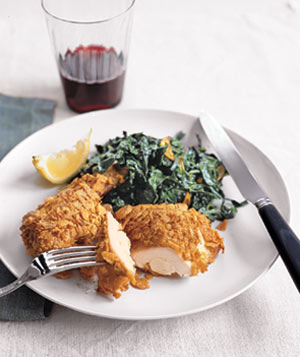 Crispy Chicken and Greens