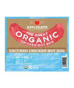 Applegate Farms The Great Organic Chicken Hot Dog