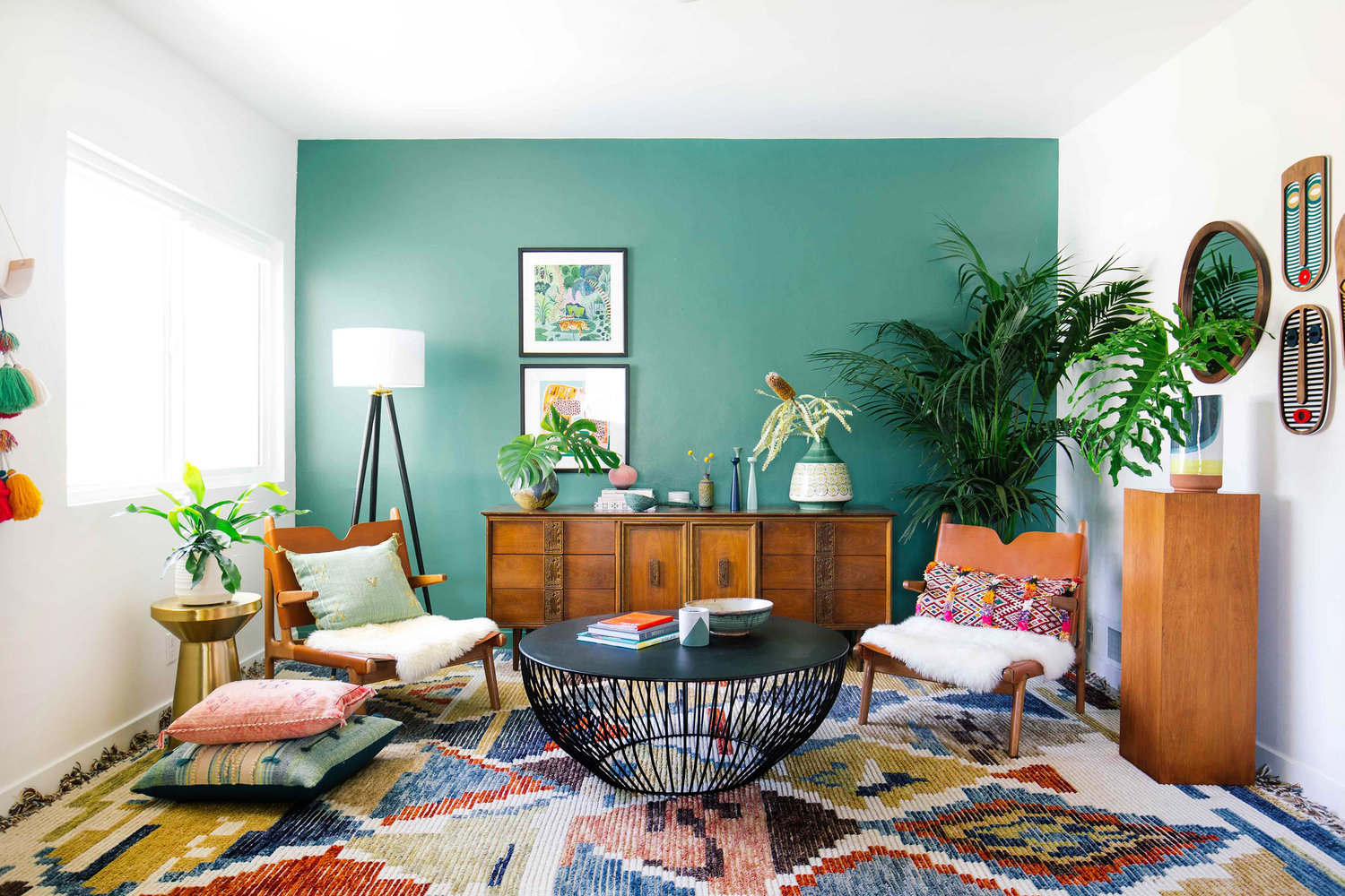 Living room ideas - Green Accent Wall