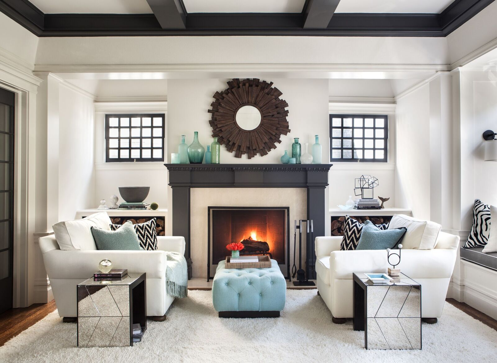 Symmetrical living room