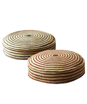 West Elm stripe rope floor cushion