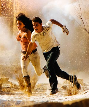 """""""Transformers: Revenge of the Fallen"""" filmstill with Shia LaBeouf and Megan Fox"""