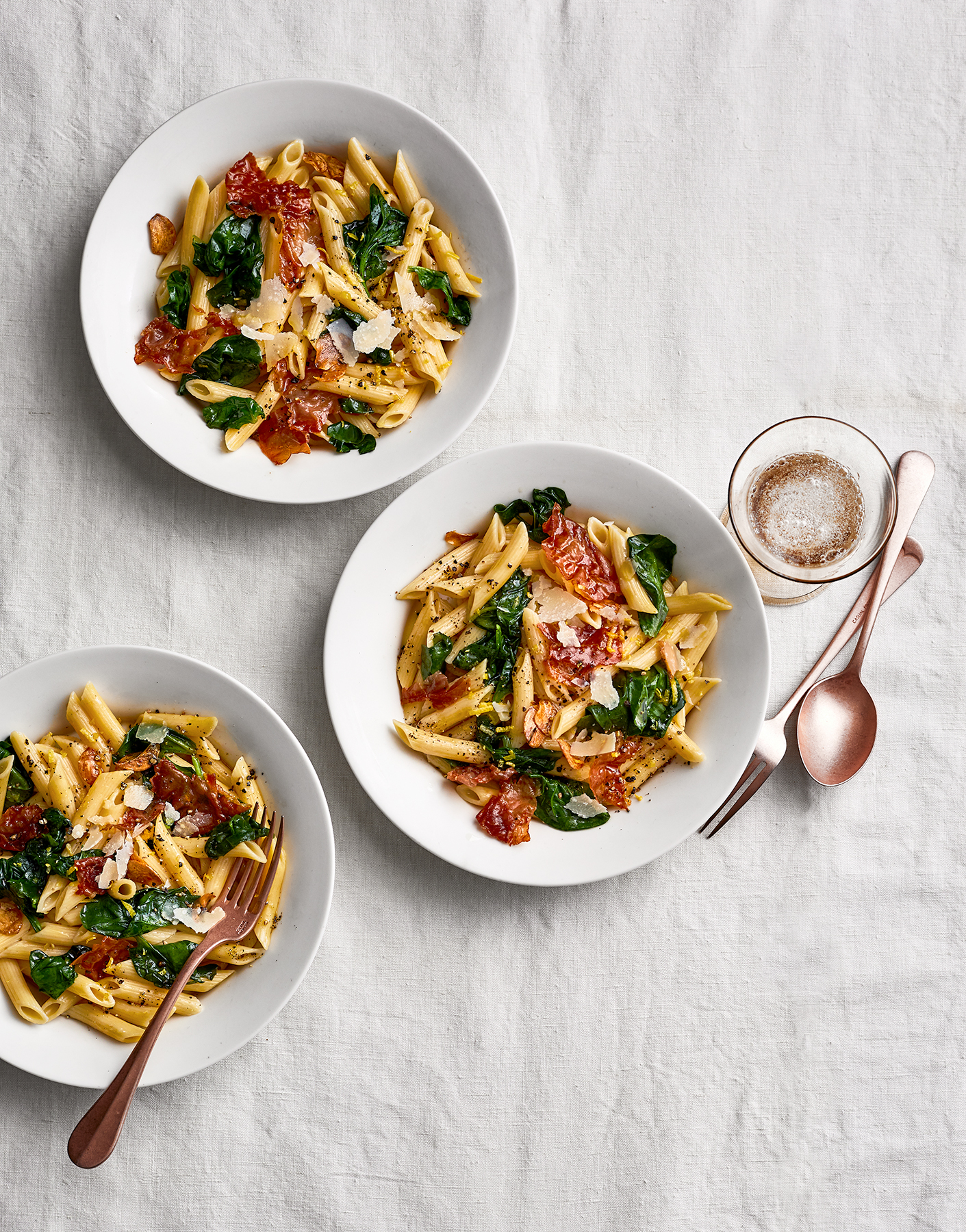 Prosciutto Penne With Spinach