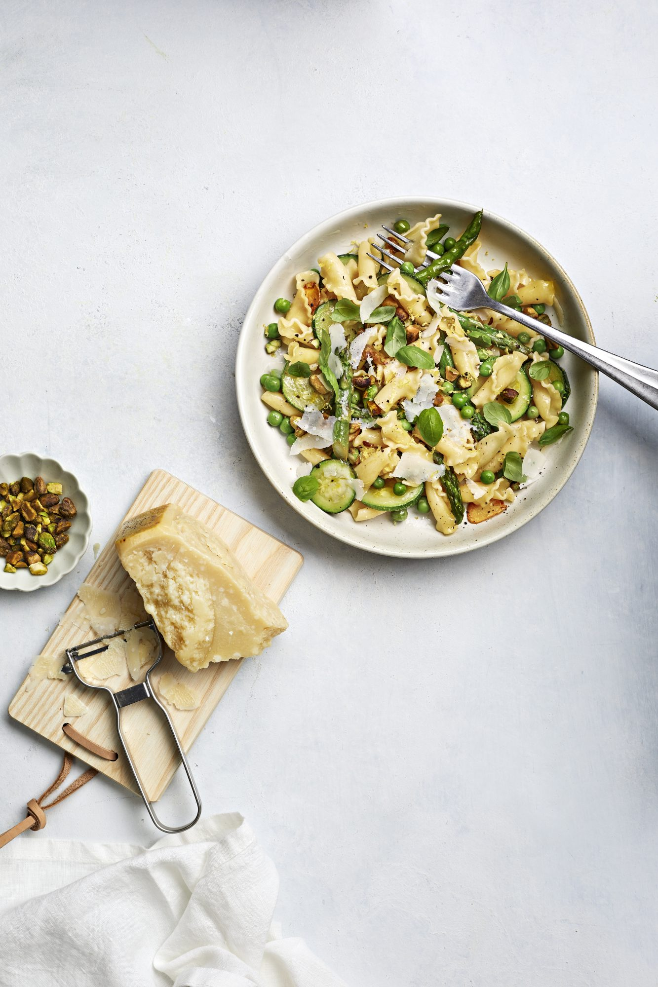 Spring Vegetable Pasta With Pistachios