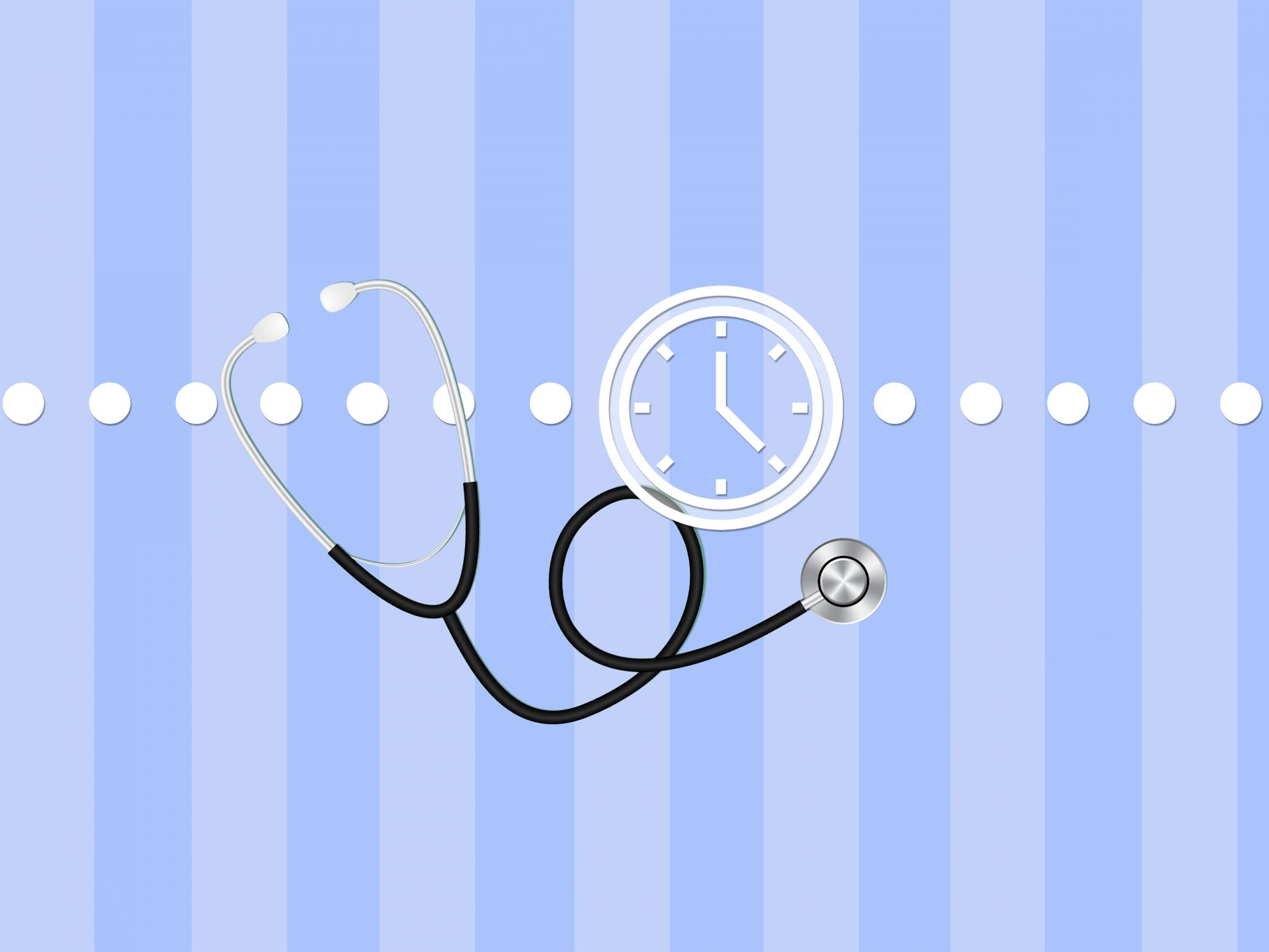 Shortcuts to healthcare problems: stethoscope on blue background
