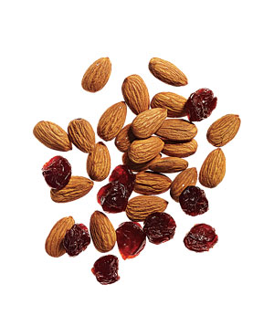 Almonds with dried tart cherries