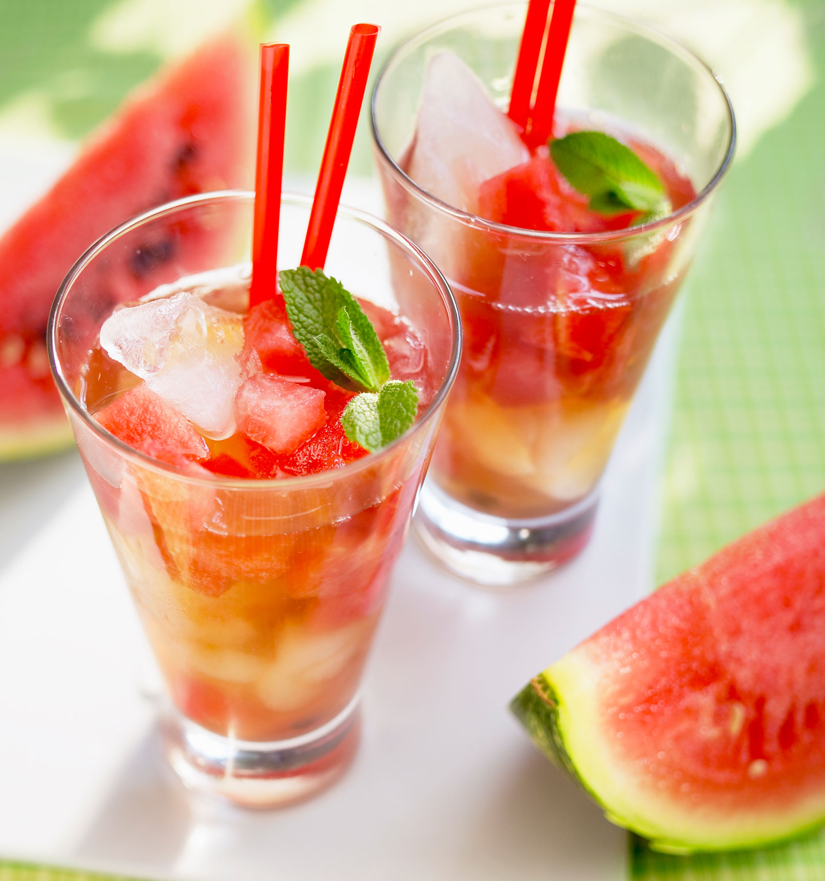 Watermelon-Basil Iced Tea