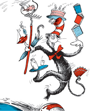 The Cat in the Hat, written and illustrated by Dr. Seuss