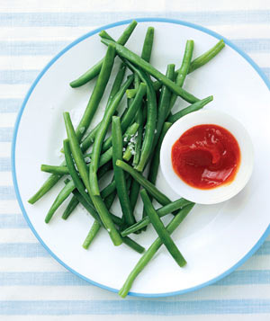 Green beans with ketchup