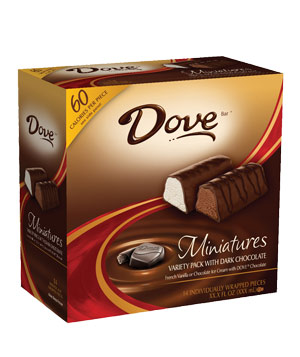 Dove Miniatures Variety Pack With Dark Chocolate