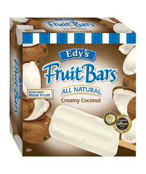 Edy's All Natural Creamy Coconut Fruit Bars